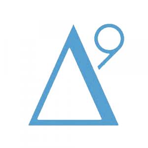 delta 9 logo white